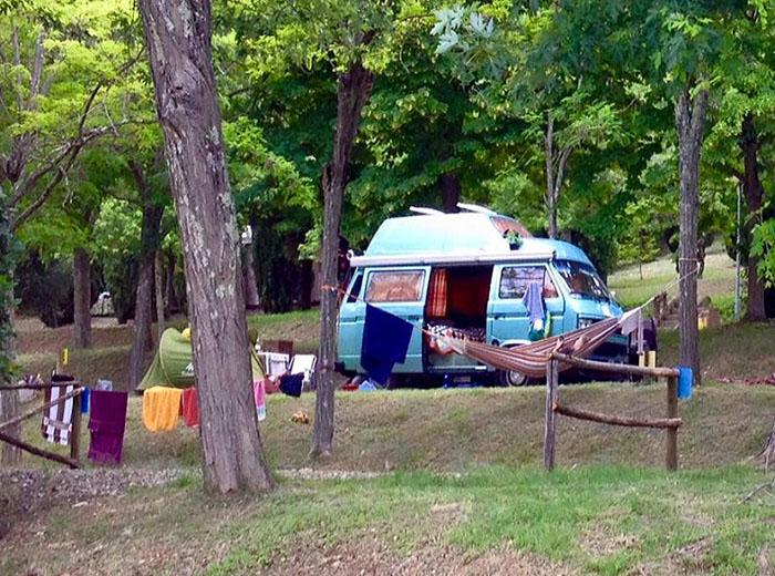 camper in sosta